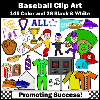 Baseball Clipart, Sports Clip Art, Baseball Theme Classroom Bat Ball SPS