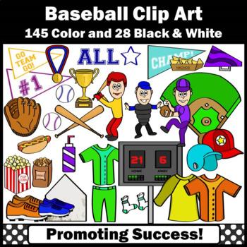 Baseball Clipart, Sports Clip Art, Baseball Theme Classroom Bat Ball SPS