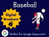 Baseball (Spring) - Digital Breakout! (Escape Room, Scaven