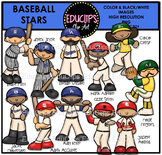 Baseball Stars Clip Art Bundle {Educlips Clipart}