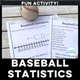 Baseball Statistics Box Plot Activity