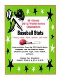 Baseball Stats  (Finding range, mean, median, and mode)