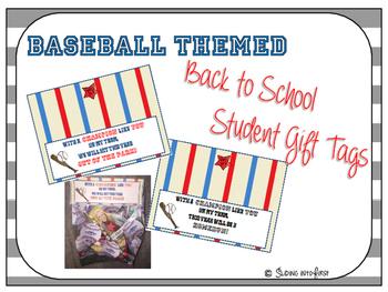 Baseball Student Gift Tags