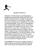 Baseball Subtraction