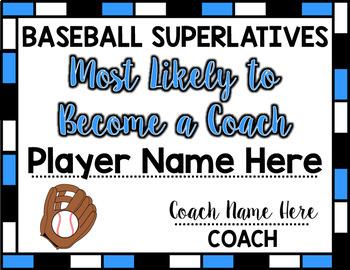 Baseball Superlative Awards - Light Blue