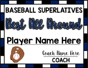 Baseball Superlative Awards - Navy