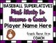 Baseball Superlative Awards - Purple