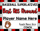 Baseball Superlative Awards - Red