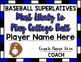 Baseball Superlative Awards - Royal Blue
