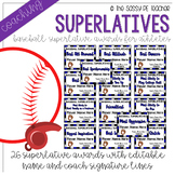 Baseball Superlative Awards - Royal Blue