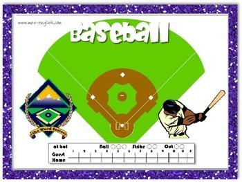 Baseball Task Card Game
