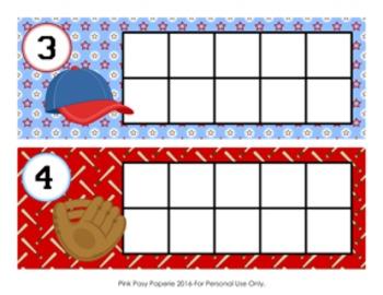 Baseball Ten Frame Cards