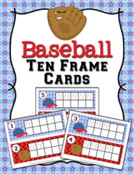 Baseball Ten Frame Cards