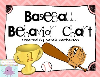 Baseball Theme Behavior Clip Chart