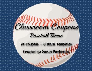 Baseball Theme Classroom Coupons