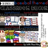Baseball Theme Classroom Decor {Bundle} (EDITABLE)