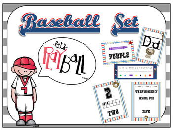 Baseball Theme Classroom Decor Pack