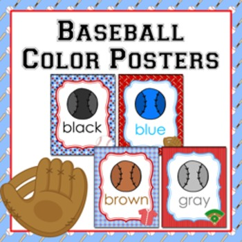 Baseball Theme Color Posters