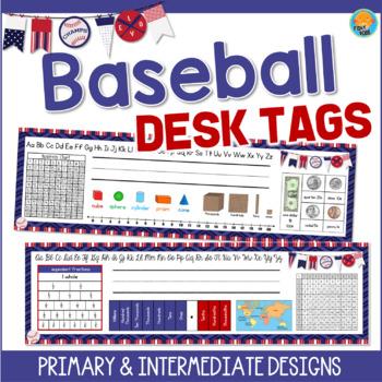 Baseball Theme Desk Tags Name Tags