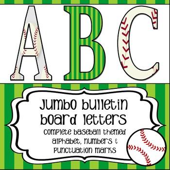 Baseball Theme Jumbo Letters