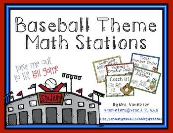 Baseball Theme Math Stations