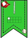 Baseball Theme Number Banner Pennants