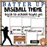 Baseball Theme Parent Night Station Signs (EDITABLE)