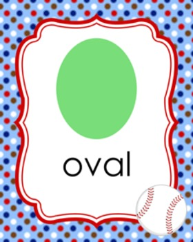 Baseball Theme Shape Posters