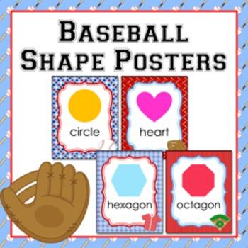 Baseball Theme Shape Posters