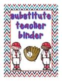 Baseball Theme Sub Binder