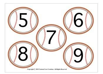 Baseball Theme Word Wall Classroom Decor
