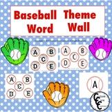 Baseball Theme Word Wall Packet