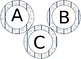 Baseball Themed 4 inch Circular Bulletin Board Letters