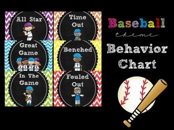 Baseball Themed Behavior Chart