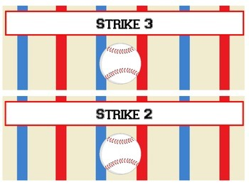 Baseball Themed Behavior Clip Chart