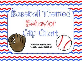 Baseball Themed Behavior Clip Chart