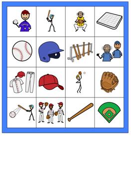 Baseball Themed Bingo