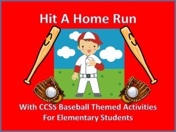 Baseball Themed CCSS Activities