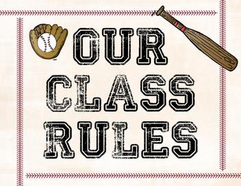 Baseball Themed Class Rules