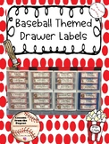 Baseball Themed Drawer Labels