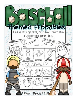 Baseball Themed Flippables for Any Text