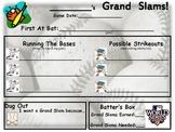 Baseball Themed Goal Sheet