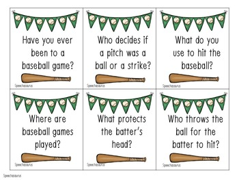 Baseball Themed Language Activities