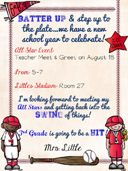 Baseball themed meet greetopen house invite by michelle little baseball themed meet greetopen house invite m4hsunfo