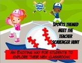 Editable Baseball Themed Meet the Teacher Scavenger Hunt