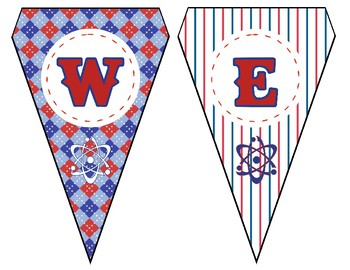 Baseball-Themed Pennant-Style Welcome Bunting for the Science Classroom