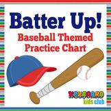 Baseball Themed Practice Chart