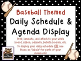 Baseball Themed Schedule Cards Labels & Daily Agenda Reminders Classroom Display