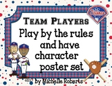 Baseball-Themed Team Players Have Character Poster Set