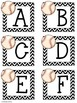 Baseball Themed Uppercase and Lowercase Alphabet Cards